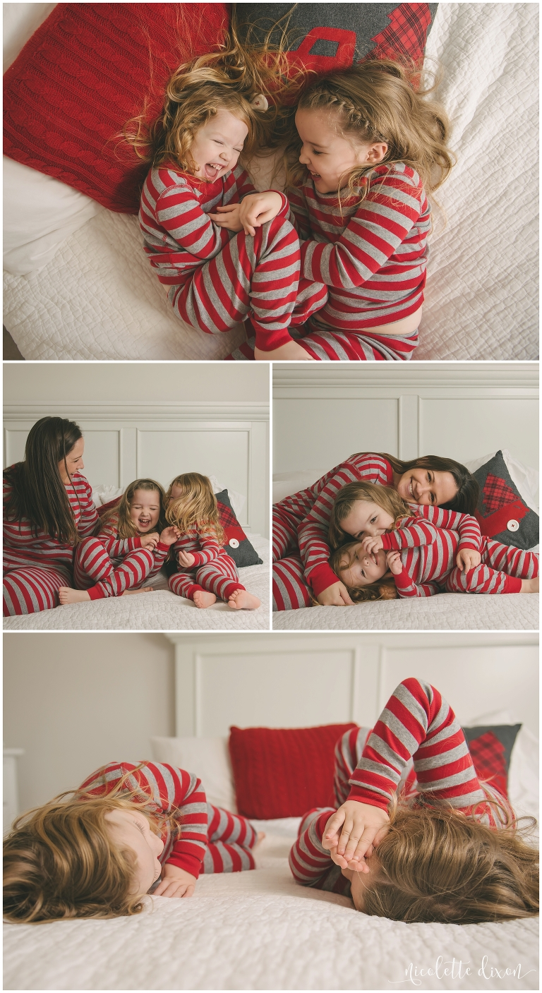 Christmas Pajamas Photoshoot.Pittsburgh Kid Photographer In Home Christmas Pictures